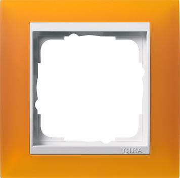 Gira Event afdekraam 1-voudig zuiver wit/opaque barnsteen