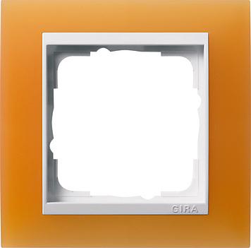 Gira Event afdekraam 1-voudig zuiver wit/opaque oranje