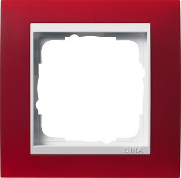 Gira Event afdekraam 1-voudig zuiver wit/opaque rood