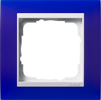 Gira Event afdekraam 1-voudig zuiver wit/opaque blauw