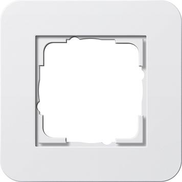 Gira E3 afdekraam 1-voudig zuiver wit