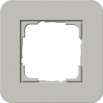 Gira E3 afdekraam 1-voudig grijs/zuiver wit