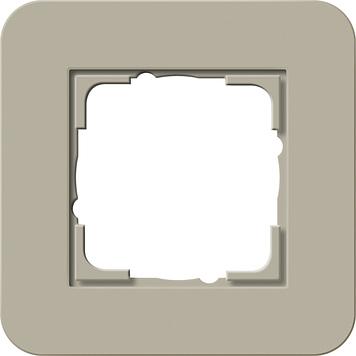 Gira E3 afdekraam 1-voudig grijsbeige/zuiver wit