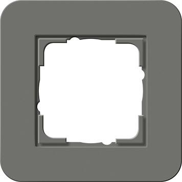Gira E3 afdekraam 1-voudig donkergrijs/antraciet