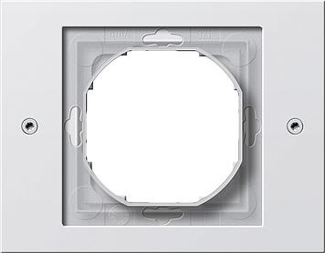 Gira TX_44 afdekraam 1-voudig zuiver wit