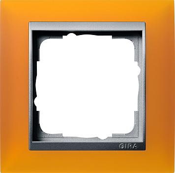 Gira Event afdekraam 1-voudig aluminium/opaque barnsteen