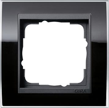Gira Event afdekraam 1-voudig antraciet/clear zwart