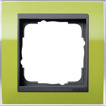 Gira Event afdekraam 1-voudig antraciet/clear groen