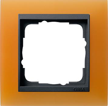 Gira Event afdekraam 1-voudig antraciet/opaque oranje