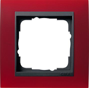 Gira Event afdekraam 1-voudig antraciet/opaque rood