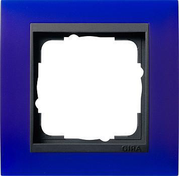 Gira Event afdekraam 1-voudig antraciet/opaque blauw