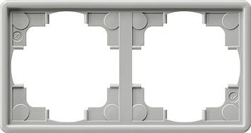 Gira S-color afdekraam 2-voudig grijs