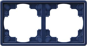 Gira S-color afdekraam 2-voudig blauw