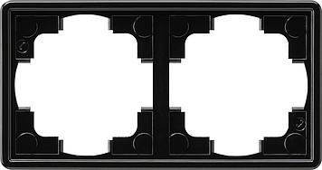 Gira S-color afdekraam 2-voudig zwart