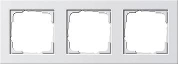 Gira E2 afdekraam 3-voudig - wit mat (021322)