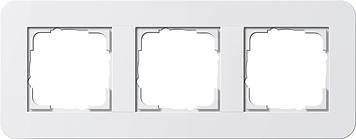 Gira E3 afdekraam 3-voudig zuiver wit