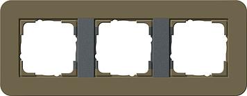 Gira E3 afdekraam 3-voudig umbra/antraciet