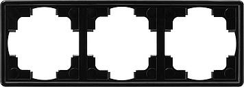Gira S-color afdekraam 3-voudig zwart