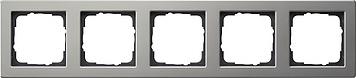 Gira E2 afdekraam 5-voudig edelstaal (021533)