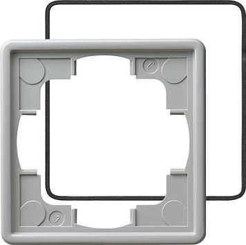 Gira S-color afdekraam 1-voudig (IP21) grijs