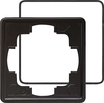 Gira S-color afdekraam 1-voudig (IP21) zwart