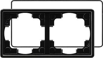 Gira S-color afdekraam 2-voudig (IP21) zwart