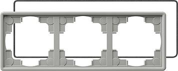 Gira S-color afdekraam 3-voudig (IP21) grijs
