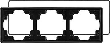 Gira S-colro afdekraam 3-voudig (IP21) zwart