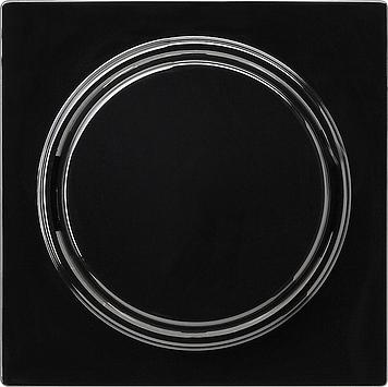 Gira S-color afdekking met wip schroefbaar zwart