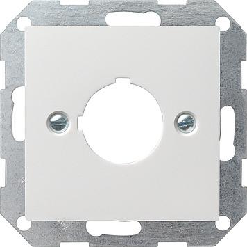 Gira Systeem 55 centraalplaat draagring apparaten m/22,5 mm - zuiver wit mat (027227)