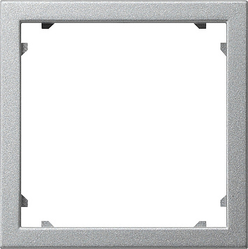 Gira systeem 55 adapterraam vierkant 45x45mm aluminium