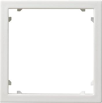 Gira adapterraam vierkant 45x45 mm - systeem 55 zuiver wit mat (028327)