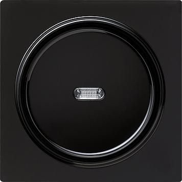 Gira S-color afdekking met wip en controlevenster zwart