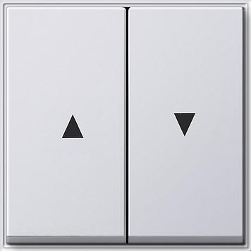 Gira TX_44 wip 2-voudig met pijlsymbool zuiver wit