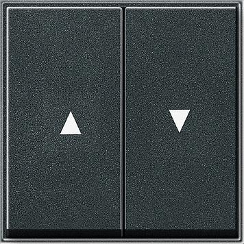 Gira TX_44 wip 2-voudig met pijlsymbool antraciet