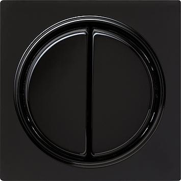 Gira S-color afdekking met wip 2-voudig zwart