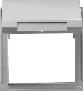 Gira TX_44 adapterraam met klapdeksel aluminium