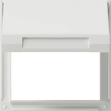 Gira TX 44 adapterraam met klapdeksel zuiver wit (065466)