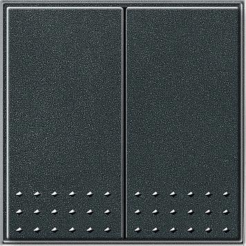 Gira TX_44 wip 2-voudig tastschakelaar antraciet