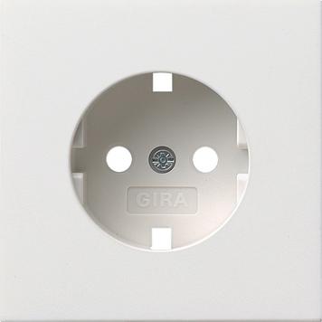 Gira F100 Afdekking wandcontactdoos met randaarde zuiver wit 401176055
