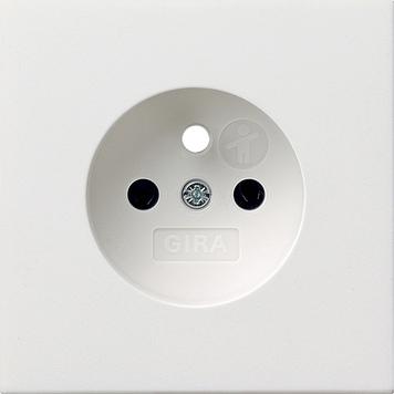 Gira F100 Afdekking wandcontactdoos aardpen zuiver wit