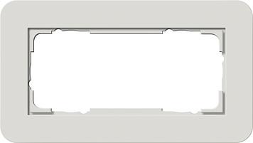 Gira E3 afdekraam 2-voudig zonder middenstuk lichtgrijs/antraciet