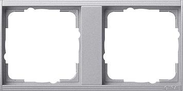 Gira Event tussenraam 2-voudig aluminium