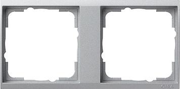 Gira Event tussenraam 2-voudig clear aluminium