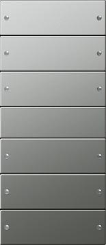 Gira wippenset 6-voudig (3+3) - systeem 55 edelstaal (2136601)
