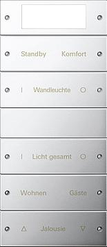 Gira wippenset 5-voudig Plus (2+3) beschrijfbaar - systeem 55 chroom(2145610)