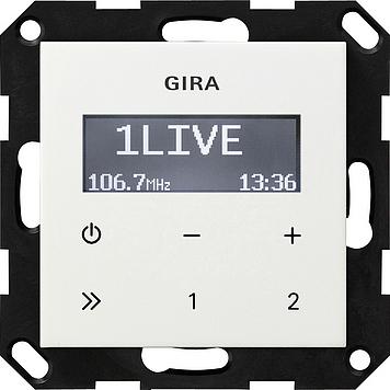 Gira IB-radio RDS z/luidspreker System 55 z.wit