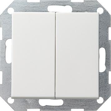 Gira drukvlakschakelaar serieschakelaar rechtstaand - systeem 55 zuiver wit mat (286027)