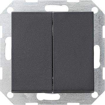 Gira tastschakelaar serie rechtstaande wip - systeem 55 antraciet (286028)