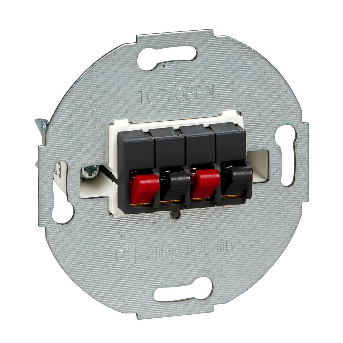 Schneider-Merten systeem m luidspreker contactdoos 2-voudig - antraciet (MTN467014)